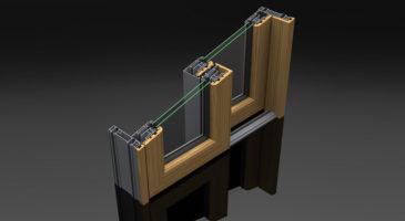 Scorrevole in alluminio-legno